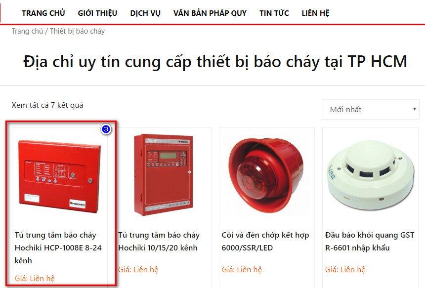 Hướng dẫn mua hàng tại PCCC TPHCM