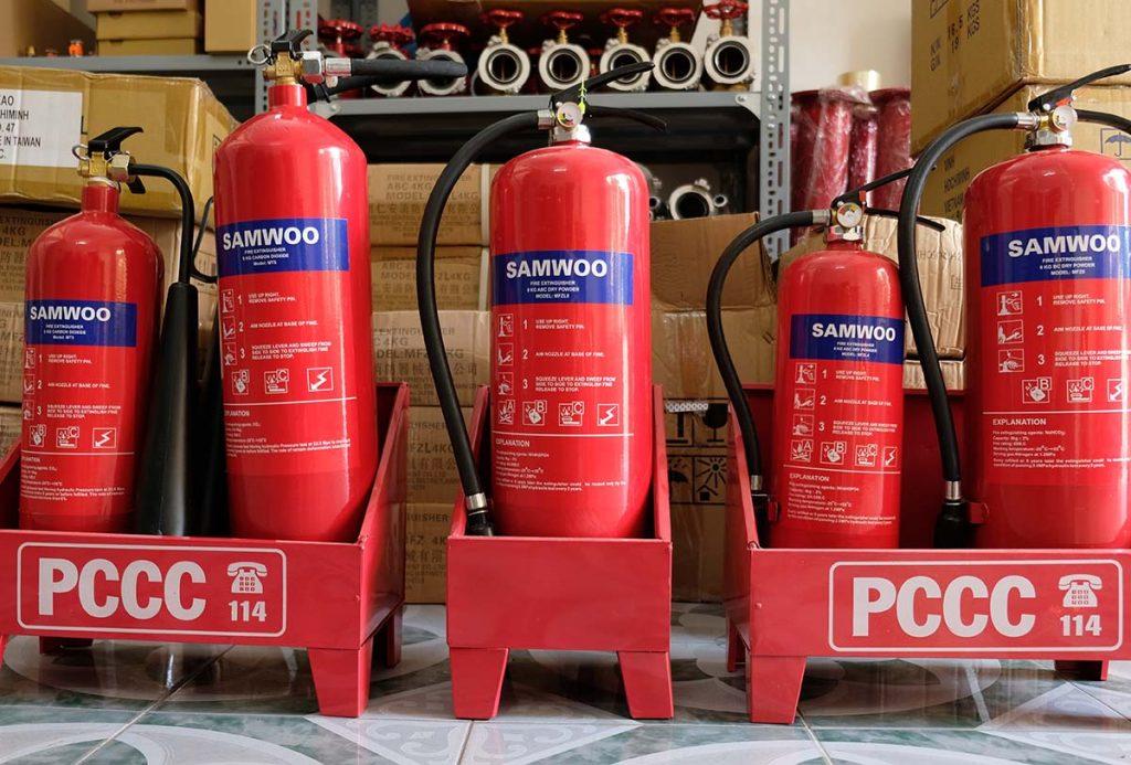 Bình chữa cháy có tem kiểm định BCA