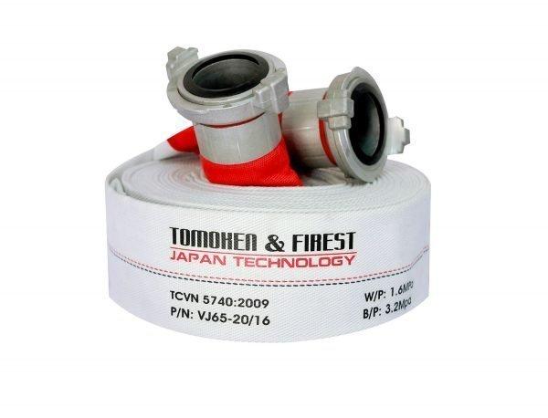 Cuộn vòi chữa cháy TOMOKEN HOSE D65 X 1.6MPA X 20M