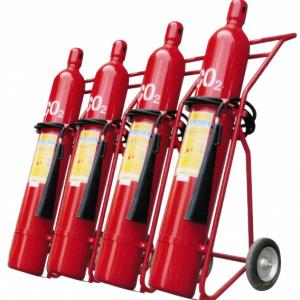 Bình chữa cháy xe đẩy khí CO2 Renan MT24 24kg