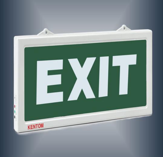 Đèn exit KENTOM 1 mặt không chỉ hướng