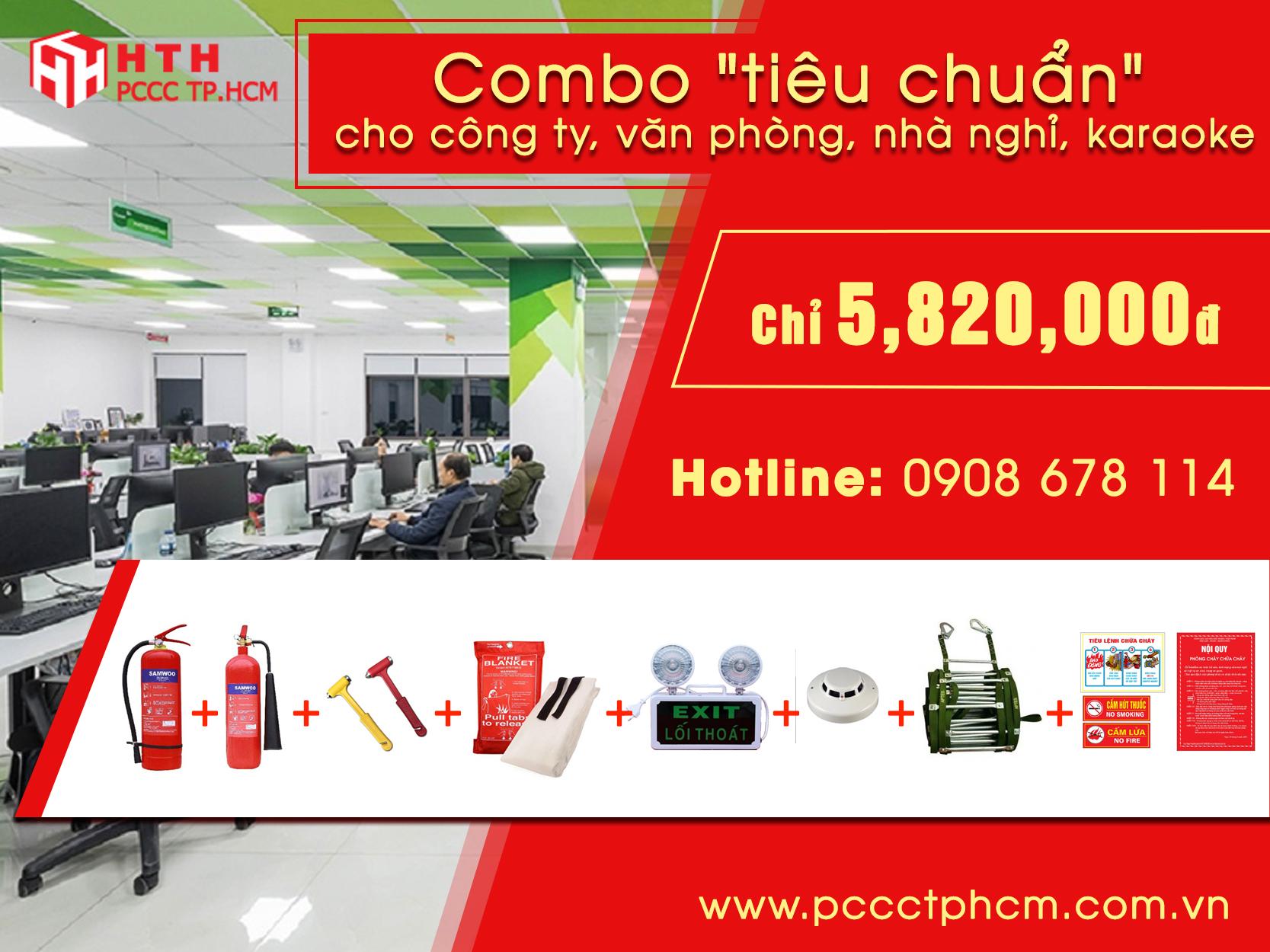 Combo 3 phương tiện PCCC tiêu chuẩn
