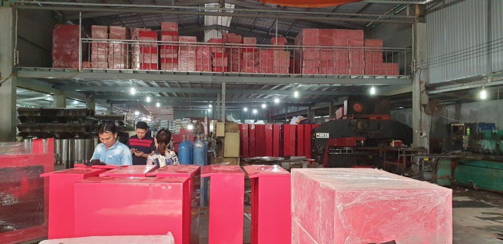 xưởng sản xuất thiết bị PCCC HTH TPHCM